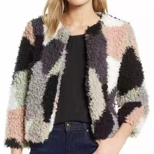 1.State new  Womens multi Cropped  Faux Fur Size M
